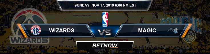 Washington Wizards vs Orlando Magic 11-17-2019 NBA Spread and Previews