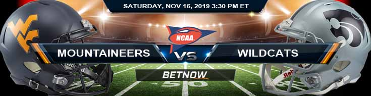 West Virginia Mountaineers vs Kansas State Wildcats 11-16-2019 Picks Spread and Odds
