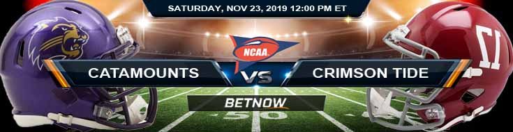 Western Carolina Catamounts vs Alabama Crimson Tide 11-23-2019 Predictions Previews and Picks