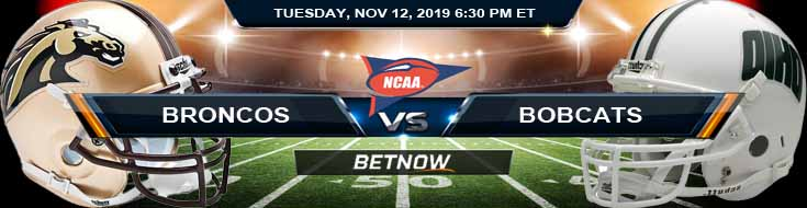 Western Michigan Broncos vs Ohio Bobcats 11-12-2019 Odds Picks and Spread
