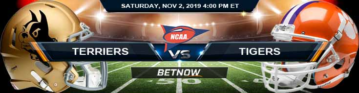 Wofford Terriers vs Clemson Tigers 11-02-2019 Odds, Picks and Previews