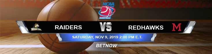 Wright State Raiders vs Miami-Ohio RedHawks 11-09-2019 Odds Picks and Previews
