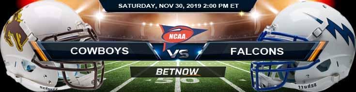 Wyoming Cowboys vs Air Force Falcons 11-30-2019 Picks Predictions and Preview