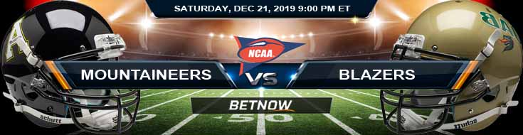 Appalachian State Mountaineers vs UAB Blazers 12-21-2019 Preview Picks and Game Analysis