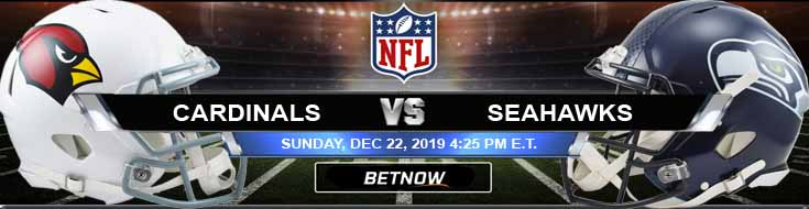 Arizona Cardinals vs Seattle Seahawks 12-22-2019 Spread Predictions and Odds
