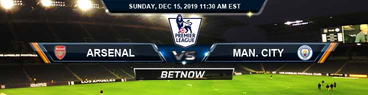Arsenal vs Manchester City 12-15-2019 Odds Preview and Spread