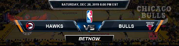 Atlanta Hawks vs Chicago Bulls 12-28-2019 NBA Previews and Prediction