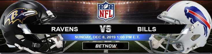 Baltimore Ravens vs Buffalo Bills 12-08-2019 Picks Predictions and Previews