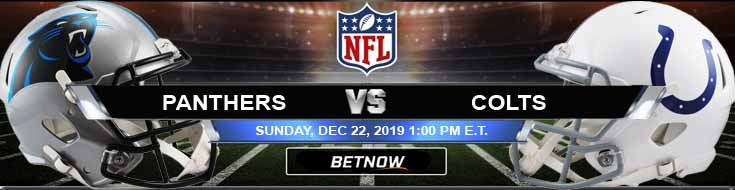 Carolina Panthers vs Indianapolis Colts 12-22-2019 Picks Odds and Spread