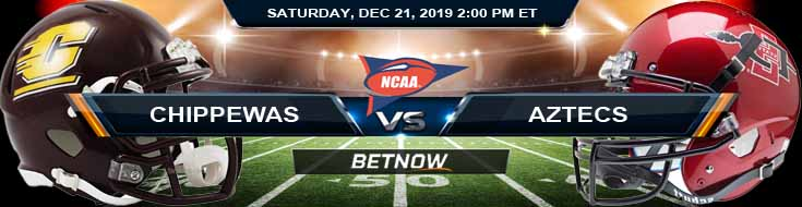 Central Michigan Chippewas vs San Diego State Aztecs 12-21-2019 Picks Odds and Previews