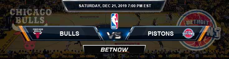 Chicago Bulls vs Detroit Pistons 12-21-19 NBA Odds and Game Analysis