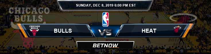 Chicago Bulls vs Miami Heat 12-8-19 NBA Prediction and Game Analysis