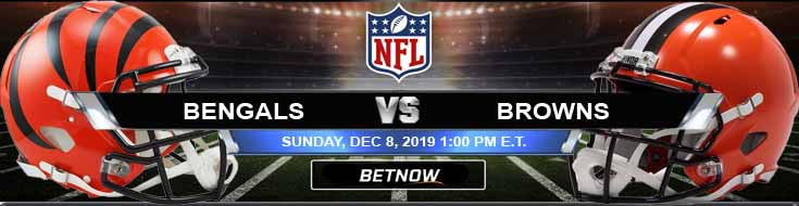 Cincinnati Bengals vs Cleveland Browns 12-08-2019 Game Analysis Odds and Predictions