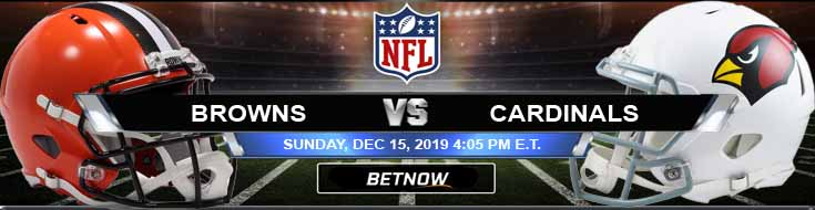 Cleveland Browns vs Arizona Cardinals 12-15-2019 Picks Predictions and Preview