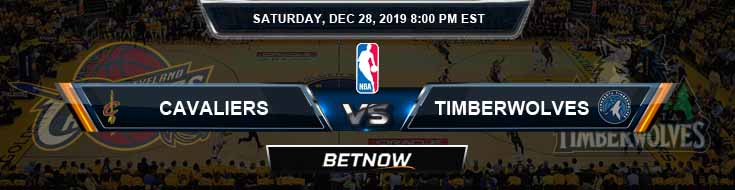 Cleveland Cavaliers vs Minnesota Timberwolves 12-28-2019 NBA Odds and Picks