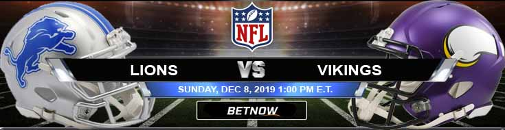 Detroit Lions vs Minnesota Vikings 12-08-2019 Spread Picks and Preview