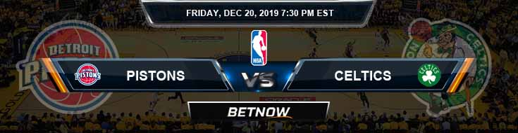 Detroit Pistons vs Boston Celtics 12-20-19 Spread Picks and Prediction