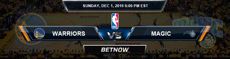 Golden State Warriors vs Orlando Magic 12-01-2019 Odds Picks and Previews