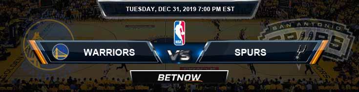 Golden State Warriors vs San Antonio Spurs 12-31-2019 NBA Odds and Picks