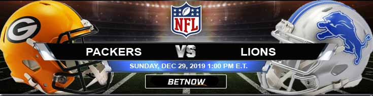 Green Bay Packers vs Detroit Lions 12-29-2019 Picks Predictions and Previews