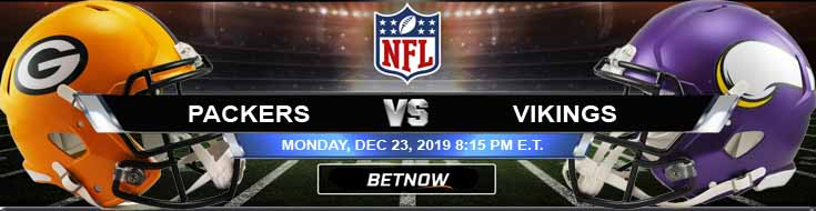 Green Bay Packers vs Minnesota Vikings 12-23-2019 Picks Odds and Predictions