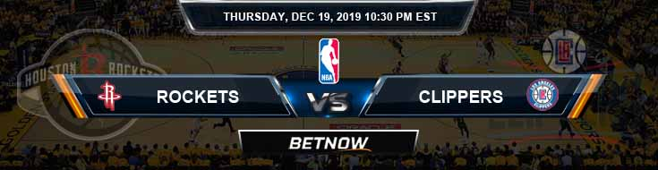 Houston Rockets vs Los Angeles Clippers 12-19-19 NBA Previews and Prediction