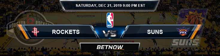 Houston Rockets vs Phoenix Suns 12-21-19 Spread Picks and Prediction