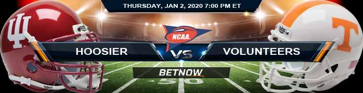 Indiana Hoosiers vs Tennessee Volunteers 01-02-2020 Predictions Picks and Previews