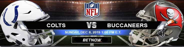 Indianapolis Colts vs Tampa Bay Buccaneers 12-08-2019 Odds Spread and Picks