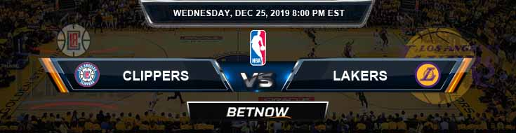 Los Angeles Clippers vs Los Angeles Lakers 12-25-2019 NBA Picks and Previews