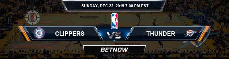 Los Angeles Clippers vs Oklahoma City Thunder 12-22-2019 NBA Odds and Picks