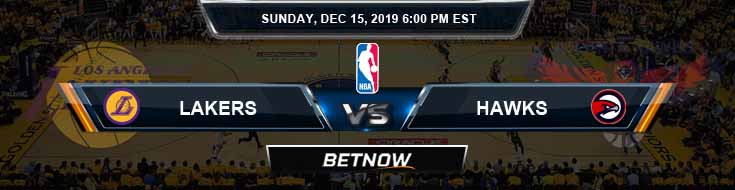 Los Angeles Lakers vs Atlanta Hawks 12-15-19 Spread Picks and Prediction