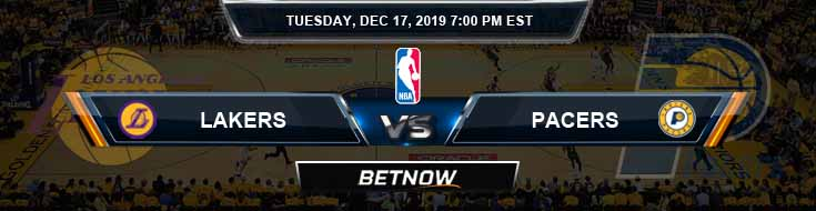 Los Angeles Lakers vs Indiana Pacers 12-17-19 NBA Picks and Previews