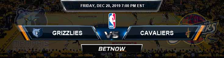 Memphis Grizzlies vs Cleveland Cavaliers 12-20-19 Spread Picks and Previews