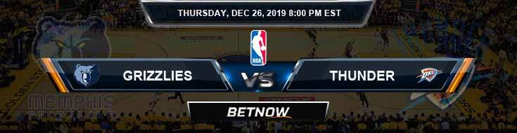 Memphis Grizzlies vs Oklahoma City Thunder 12-26-2019 NBA Spread and Picks