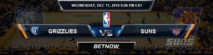 Memphis Grizzlies vs Phoenix Suns 12-11-19 Spread Picks and Previews