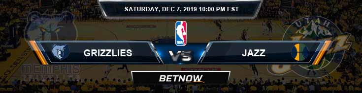Memphis Grizzlies vs Utah Jazz 12-7-19 NBA Odds and Game Analysis