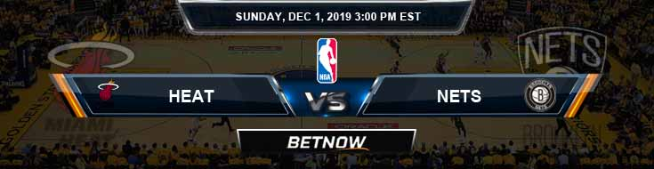 Miami Heat vs Brooklyn Nets 12-01-2019 Spread Picks and Game Analysis