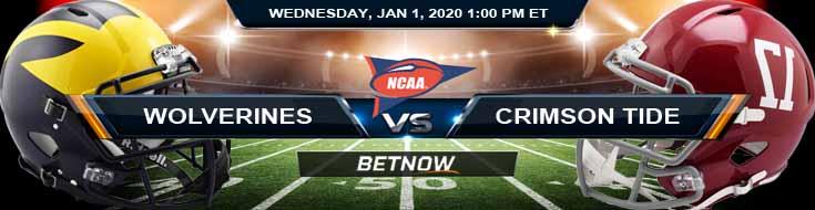 Michigan Wolverines vs Alabama Crimson Tide 01-01-2020 Picks Predictions and Previews