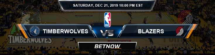 Minnesota Timberwolves vs Portland Trail Blazers 12-21-19 NBA Odds and Picks