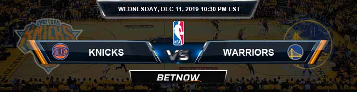 New York Knicks vs Golden State Warriors 12-11-19 NBA Spread and Picks
