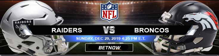 Oakland Raiders vs Denver Broncos 12-29-2019 Picks Odds and Predictions