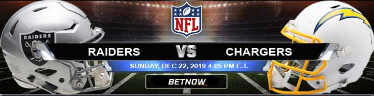 Oakland Raiders vs Los Angeles Chargers 12-22-2019 Picks Predictions and Previews