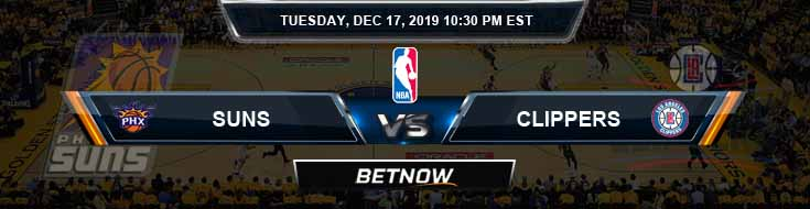 Phoenix Suns vs Los Angeles Clippers 12-17-19 NBA Spread and Previews