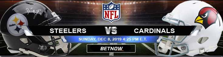 Pittsburgh Steelers vs Arizona Cardinals 12-08-2019 Odds Picks and Spread