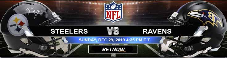 Pittsburgh Steelers vs Baltimore Ravens 12-29-2019 Predictions Spread and Previews