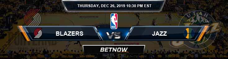 Portland Trail Blazers vs Utah Jazz 12-26-2019 Odds Picks and Spread