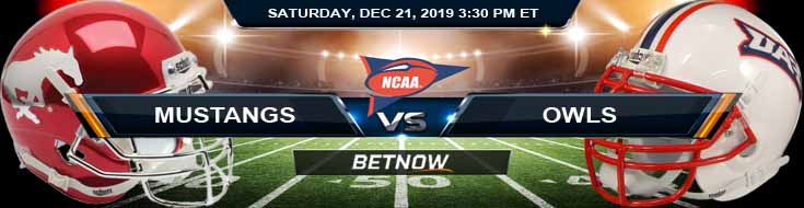 SMU Mustangs vs Florida Atlantic Owls 12-21-2019 Predictions Picks and Game Analysis