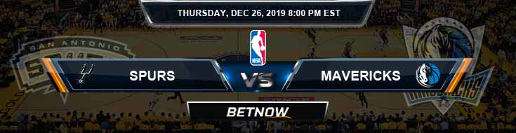 San Antonio Spurs vs Dallas Mavericks 12-26-2019 NBA Picks and Previews