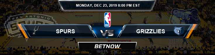 San Antonio Spurs vs Memphis Grizzlies 12-23-2019 NBA Picks and Previews
